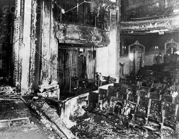iroquois theater fire damage